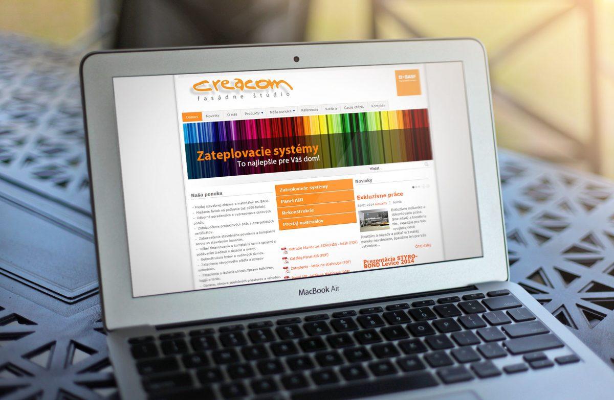 Ceacom s.r.o. – Internetová prezentácia a výrobno-pracovný postup